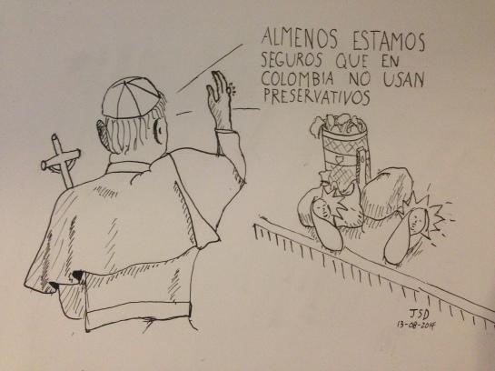 Visita de su eminencia a Colombia